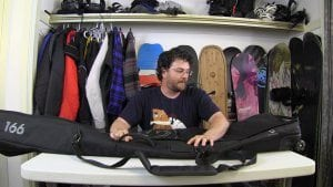 How to pack a Snowboard Bag with Gear