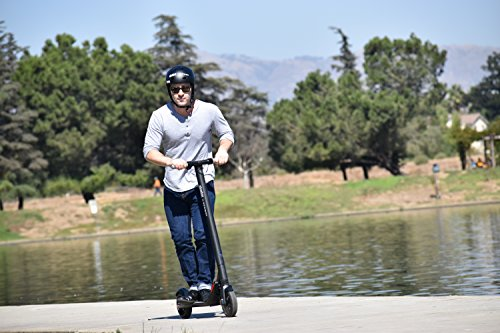 adult on segway escooter