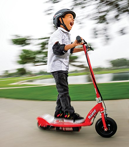 Child having fun on E100 electric scooter