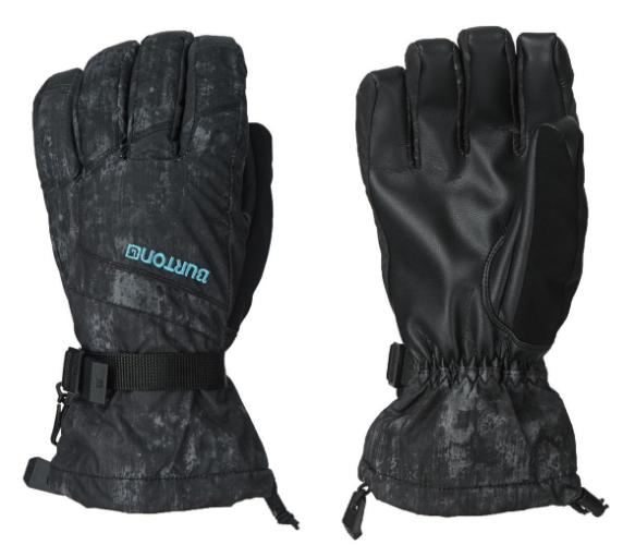 1 pair of black snowboarding gloves