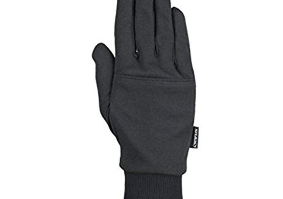 Black ski glove liner