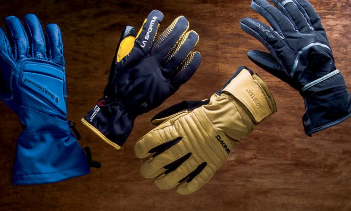 Different types of snowboarding gloves