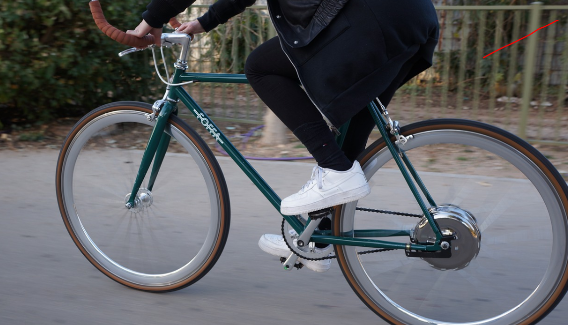Person riding on a bike